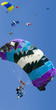 skydivers jump from an airplane