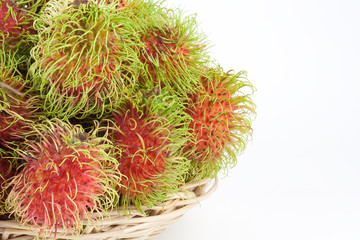 Rambutans in a basket