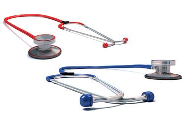 stethoscope isolated. 3d illustration