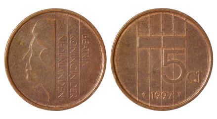 rare retro coin of netherlands