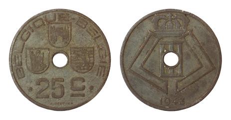 antique rare coin of belgium