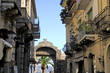 City gate of Taormina in Sicily Italy