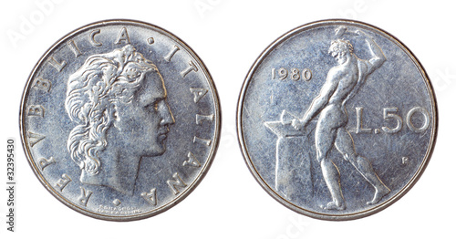 retro coin of italy