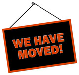 We have moved Sign poster