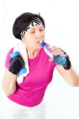 Drinking sport woman