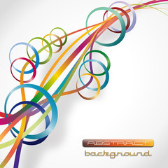 Abstract background, with circles # Vector