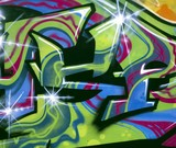 Fototapete Farbe - Fassade - Graffiti