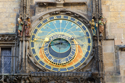 Staande foto Praag Prague Famous Astronomical Clock, Old Town Square, Prague