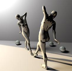 Manichini femminili con sfere 02