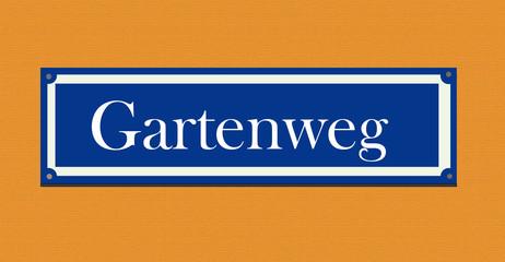 """Straßenschild """"Gartenweg"""""""