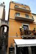 Narrow streets of Taormina on the island of Sicily, Italy