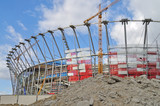 Fototapety Sports stadium under construction. Warsaw