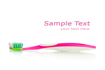 toothbrush isolated on white with copy-space