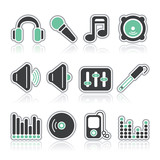 music and sound contour icons