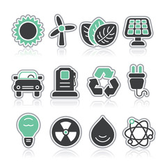 power and energy contour icons
