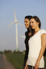Two women and wind energy