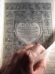 Turning the Title Page of the Geneva Bible