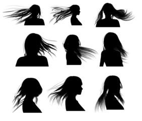 Silhouette: capelli donna