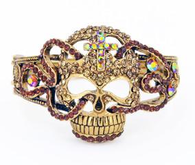 Rhinestone Skull Bracelet