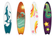 Surfboards set of four - vector EPS AI8