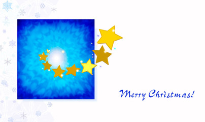 Stars illustration to greetings card with copy space