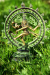 Statue of Shiva on green background