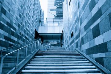 modern building stairway