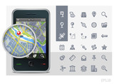 gps phone interface icons