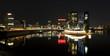 Panorama Düsseldorf Medienhafen bei Nacht