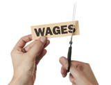 a cut in wages poster