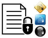 Secure document pictogram and signs