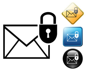 Secure e-mail pictogram and signs