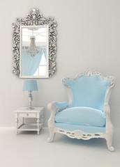 Baroque furniture in luxury interior