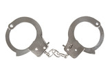 metal handcuffs isolated