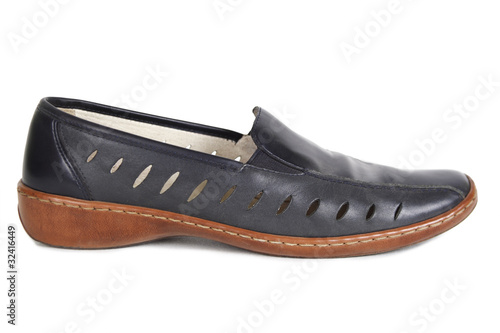 female black shoe isolated