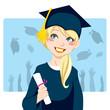 Graduate girl holding diploma