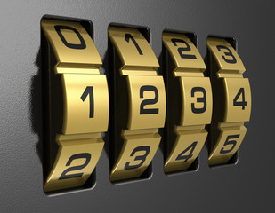 4-digit combination lock