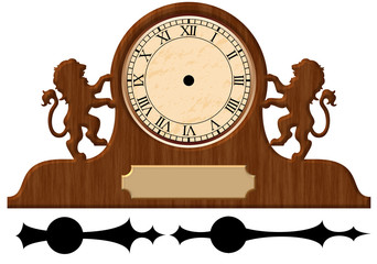Vintage Clock In A Wooden Housing