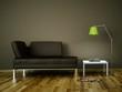 3d Rendering braunes Sofa