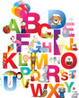 illustration of childrens alphabet