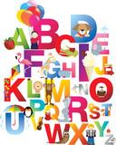 illustration of childrens alphabet