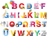 Fototapety Complete childrens alphabet