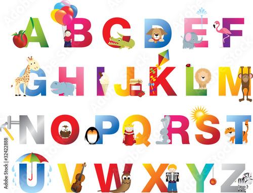 Kompletny alfabet dla dzieci