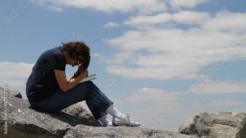 Praying On Rocks