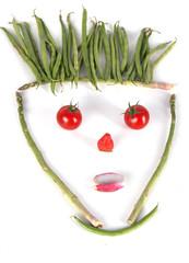 tête de légumes