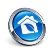 icône bouton internet maison écologie
