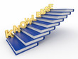Word knowledge on books as staircase