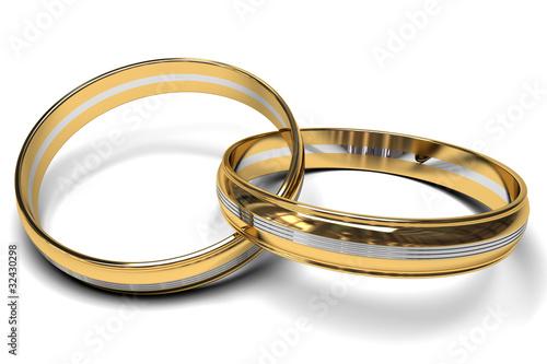 anillos de oro bicolor.