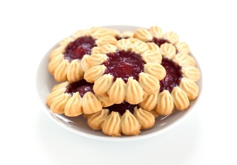 Cookies filled with fruit jam