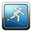 """Glossy Square Icon """"Surfing"""""""